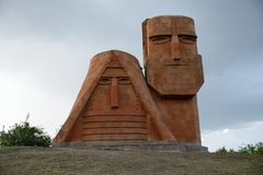 We are our mountains. Monument called We are our mountains. Stepanakert, Nagorno-Karabakh Stock Photos