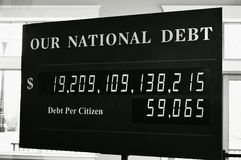 Our National Debt Royalty Free Stock Image
