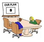 Our plan. Executives study at planning session Royalty Free Stock Photo