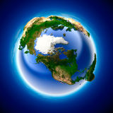 Our planet Earth on blue background relief Royalty Free Stock Photo