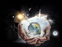 Our planet needs care and love Stock Photos