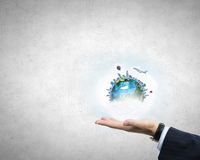 Our planet in our hands Royalty Free Stock Images