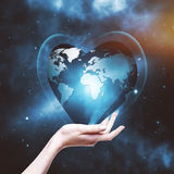 Our planet in your hands Stock Photos