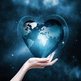 Our planet in your hands Stock Image