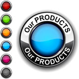 Our products button. Picture of  Our products realistic button Royalty Free Stock Photo
