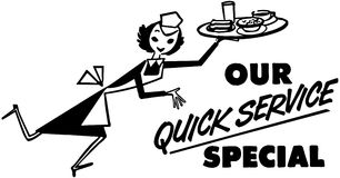 Our Quick Service Special Royalty Free Stock Image