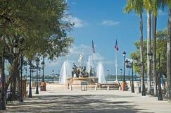 Our roots fountain, San Juan, Puerto Rico. Fountain at Paseo de la Princesa at the old city in San Juan, Puerto Rico royalty free stock photography