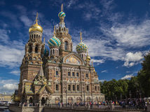 Our Saviour on Spilled Blood , Saint - Petersburg. Savior on Spilled Blood in St. Petersburg near the Griboyedov Canal Royalty Free Stock Photo