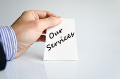Our services text concept Stock Photography