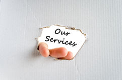 Our services text concept Stock Photo