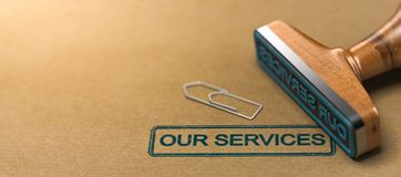 Our services, web header. Royalty Free Stock Images
