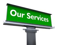 Our services stock illustration