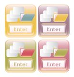 Our shiny enter labels with buttons folders and do Royalty Free Stock Photography