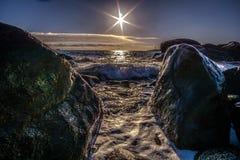 Our star. Tidal waves crashing stock photo