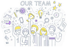Our Success Team Linear Design Stock Photos