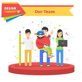 Our Success Team Linear Flat Design Stock Photo