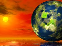 Our sweet earth. In space Royalty Free Stock Photos