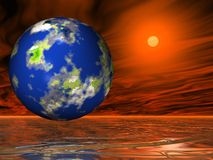 Our sweet earth. In space Royalty Free Stock Images