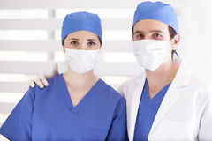 Our team at the dental office Stock Photos