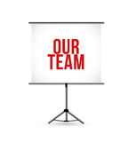 Our team presentation board illustration design Stock Photography