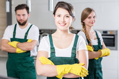 Our team will clean any dirt! Royalty Free Stock Images