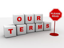 Our terms Stock Image
