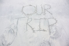 Our Trip in Sand Stock Photography