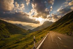 Road into the mountains royalty free stock photography