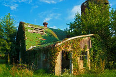 Our Visual History, an Old Barn Still Standing. Remnants of a barn and an agricultural past still standing in Southwestern Michigan Royalty Free Stock Image