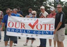 Our Vote Should Count sign at Rally to Secure Our  Royalty Free Stock Image