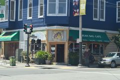 In Our Walk Through the Streets of San Francisco We Find This Typical Italian Restaurant. Travel Holidays Arquitecture. June 30, 2017. San Francisco. California Stock Photography
