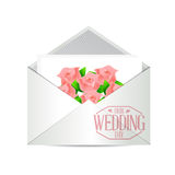Our wedding day invite illustration Royalty Free Stock Photography