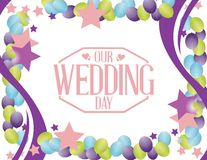 our wedding day party balloon background Royalty Free Stock Image