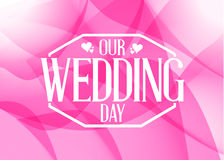 our wedding day shapes card Royalty Free Stock Images