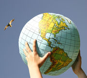 Our world. World in the our hands Royalty Free Stock Photo