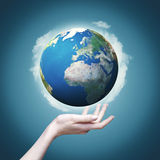 Our world in our hands Stock Images