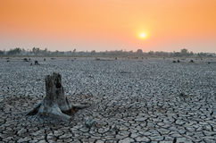When our world water shortage. Global warming is a problem that causes droughts, water shortages, food stock image