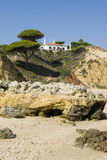 Oura Beach & Cliffs Stock Images