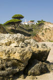 Oura Beach & Cliffs Royalty Free Stock Photography