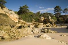 Oura Beach & Cliffs Stock Photography