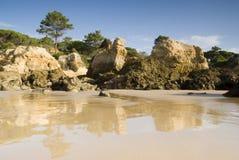 Oura Beach & Cliffs Stock Photo