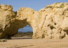 Oura Beach & Cliffs Royalty Free Stock Photos