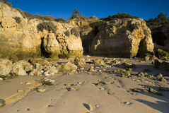 Oura Beach and Cliffs Stock Photography