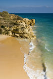 Oura Beach and Cliffs Royalty Free Stock Photography