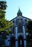Oura Catholic Church in Nagasaki. Oura Catholic Church of the fresh green Stock Photos