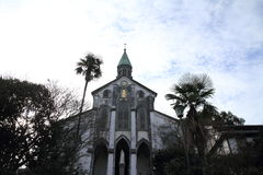 Oura kyrka i Nagasaki royaltyfri foto
