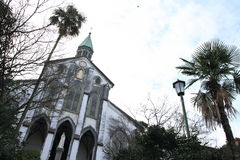 Oura kyrka i Nagasaki arkivfoto