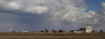 Ouragan abandonné de ferme Photo stock
