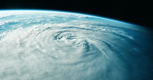 Ouragan comme vu de l'espace illustration stock