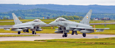 Ouragan d'eurofighter de R A F Photo libre de droits